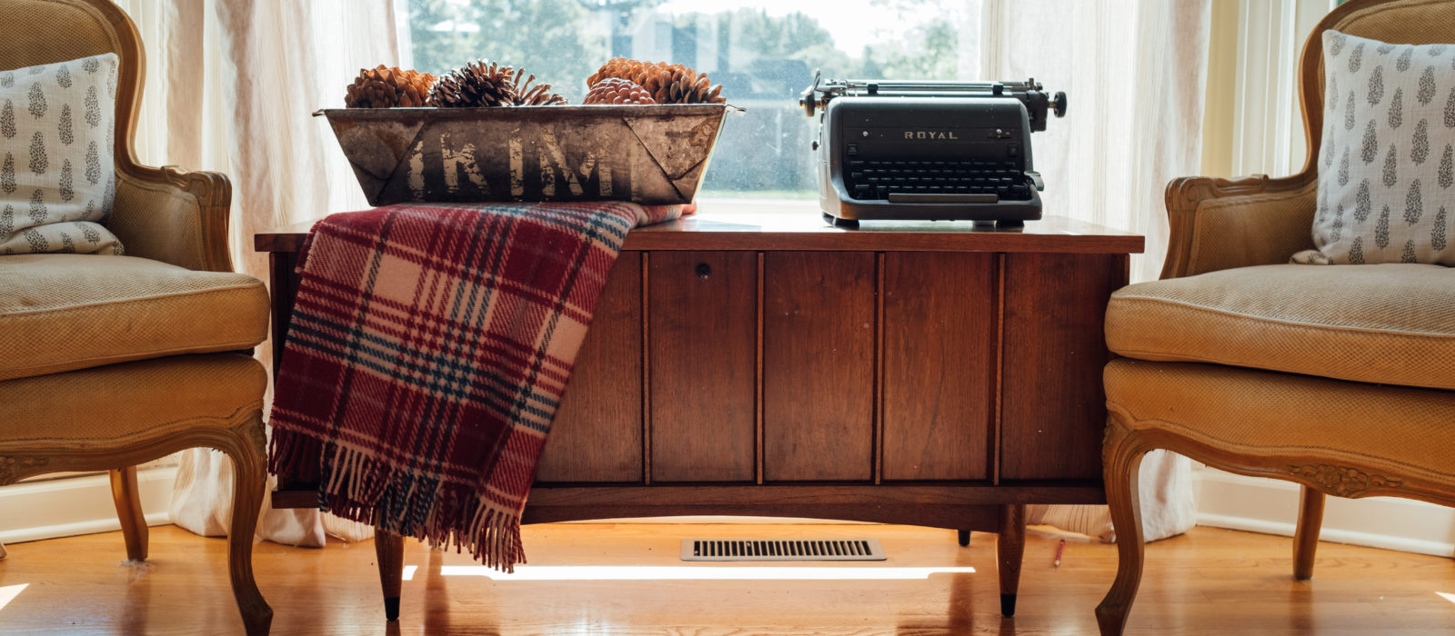 flea market style industrial plaid wool blanket eclectic